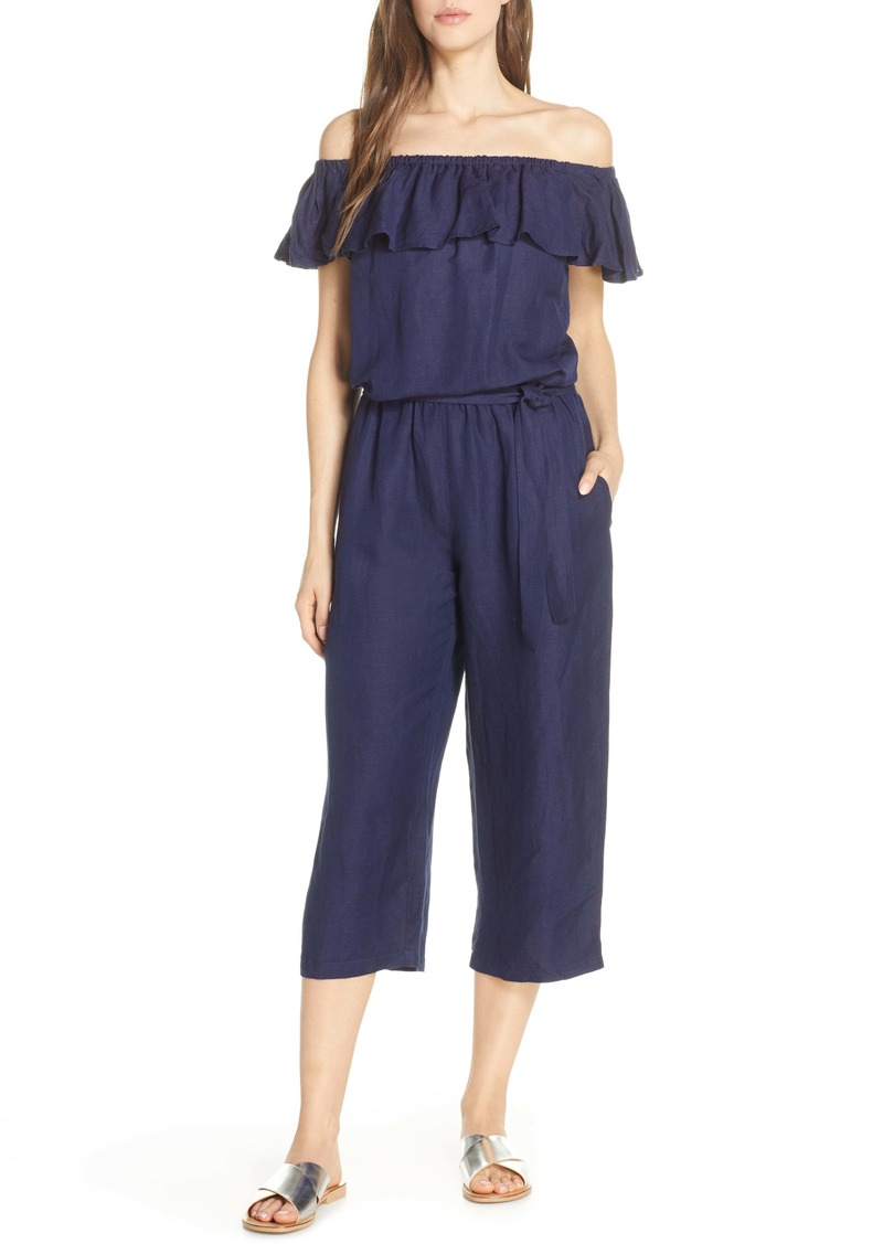 Tommy Bahama Off the Shoulder Cover-Up Jumpsuit