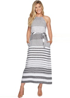 Tommy Bahama Opal Stripe Halter Maxi Dress