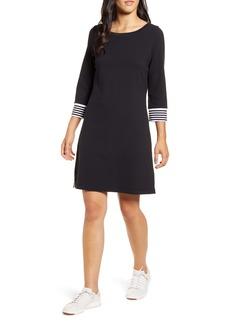 Tommy Bahama Ottoman Stripe Cuff Cotton Shift Dress