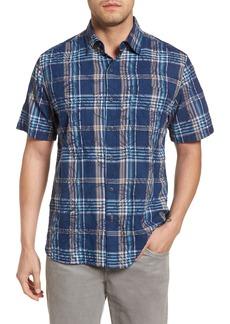 Tommy Bahama Palazzo Regular Fit Plaid Sport Shirt