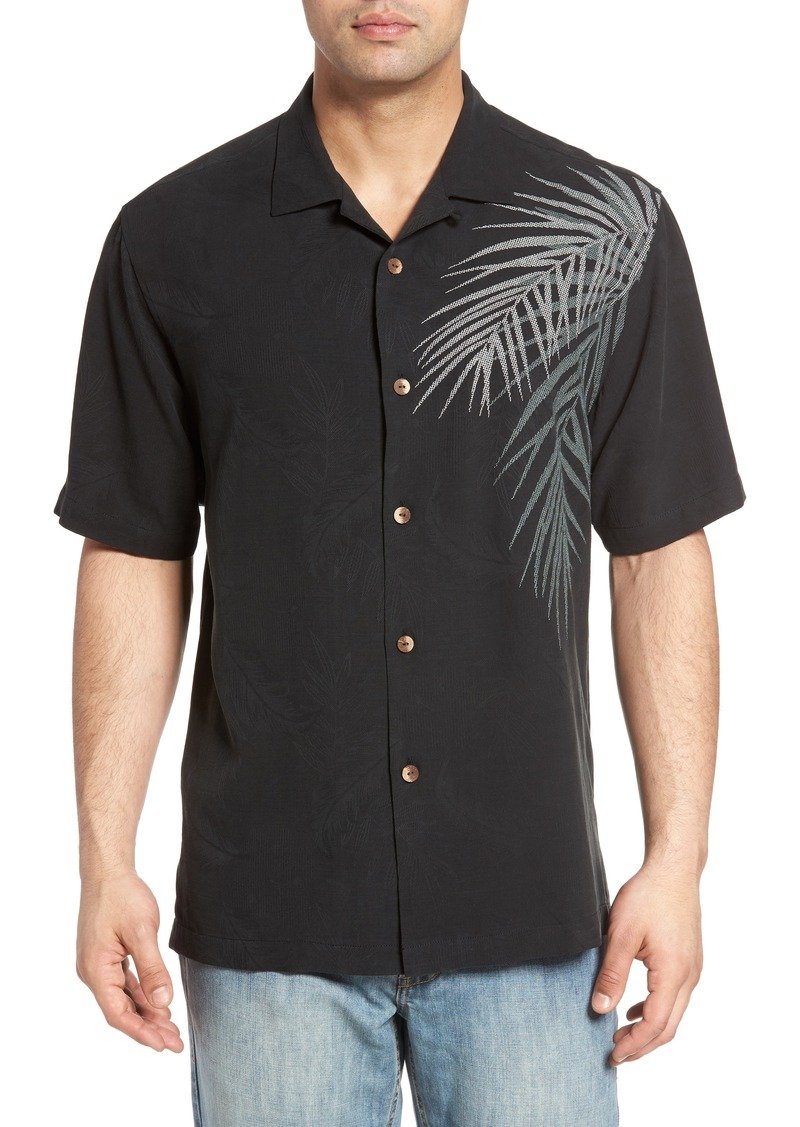 Tommy bahama tommy bahama palm intentions regular fit for Tommy bahama embroidered silk camp shirt
