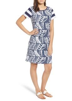 Tommy Bahama Palm Leaf Stripe T-Shirt Dress