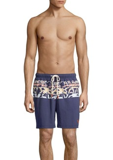 Tommy Bahama Palm-Print Swim Shorts