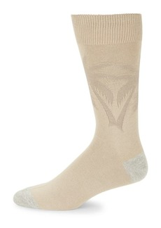Tommy Bahama Palm-Print Textured Crew Socks