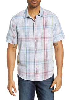 Tommy Bahama Palms Away Plaid Classic Fit Sport Shirt