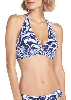 Tommy Bahama Pansey Petals Reversible Bikini Top