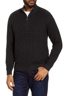 Tommy Bahama Patterned Quarter Zip Sweater