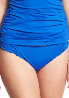 Tommy Bahama Pearl Shirred-Side Solid Hipster Swim Bikini Bottom