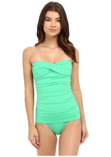 Tommy Bahama Pearl Twist Front Bandeau One-Piece