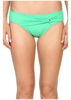 Tommy Bahama Pearl Twist-Front High-Waist Bikini Bottom