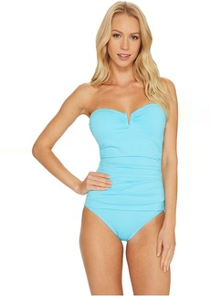 Tommy Bahama Pearl V-Front Bandeau One-Piece Swimsuit