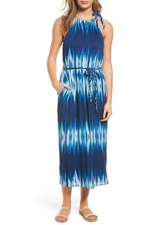 Tommy Bahama Petra Tie Neck Maxi Dress