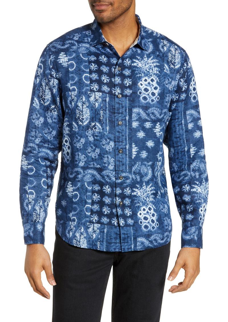 Tommy Bahama Piña Shibori Classic Fit Linen Shirt