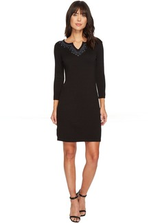 Tommy Bahama Pickford Embroidered Split-Neck Dress