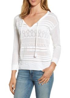 Tommy Bahama Pickford Pointelle Split Neck Sweater