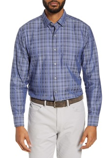Tommy Bahama Plaid Cotton & Silk Button-Up Shirt