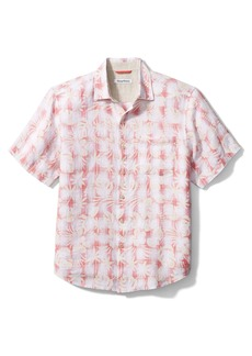 Tommy Bahama Plaid in Paradise Linen Short Sleeve Button-Up Shirt