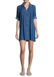 Tommy Bahama Pleated Mini Shirtdress