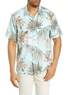 Tommy Bahama Portofino Palms Classic Fit Silk Blend Button-Up Camp Shirt