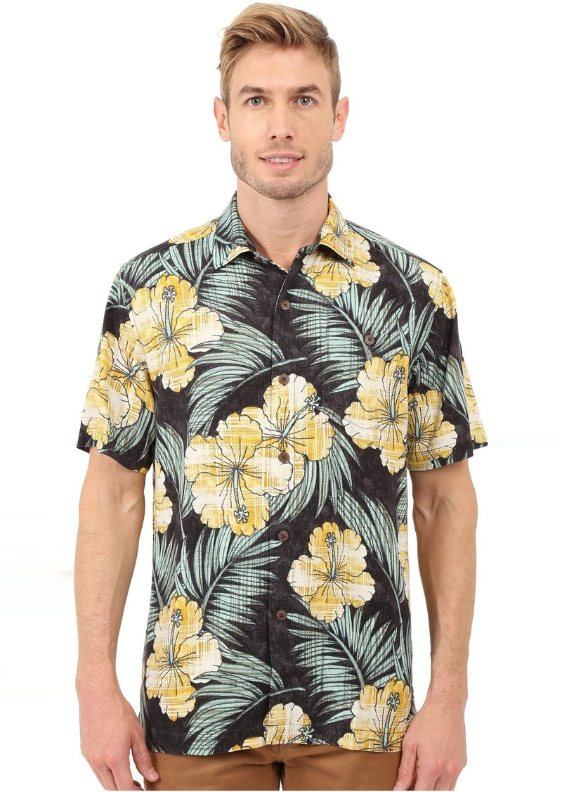 Tommy Bahama Tommy Bahama Printed Plaid Hibiscus Camp Shirt  32d2a79fd