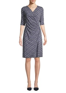 Tommy Bahama Printed Ruched Wrap Dress