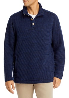 Tommy Bahama Quilted Mock Neck Sweatshirt