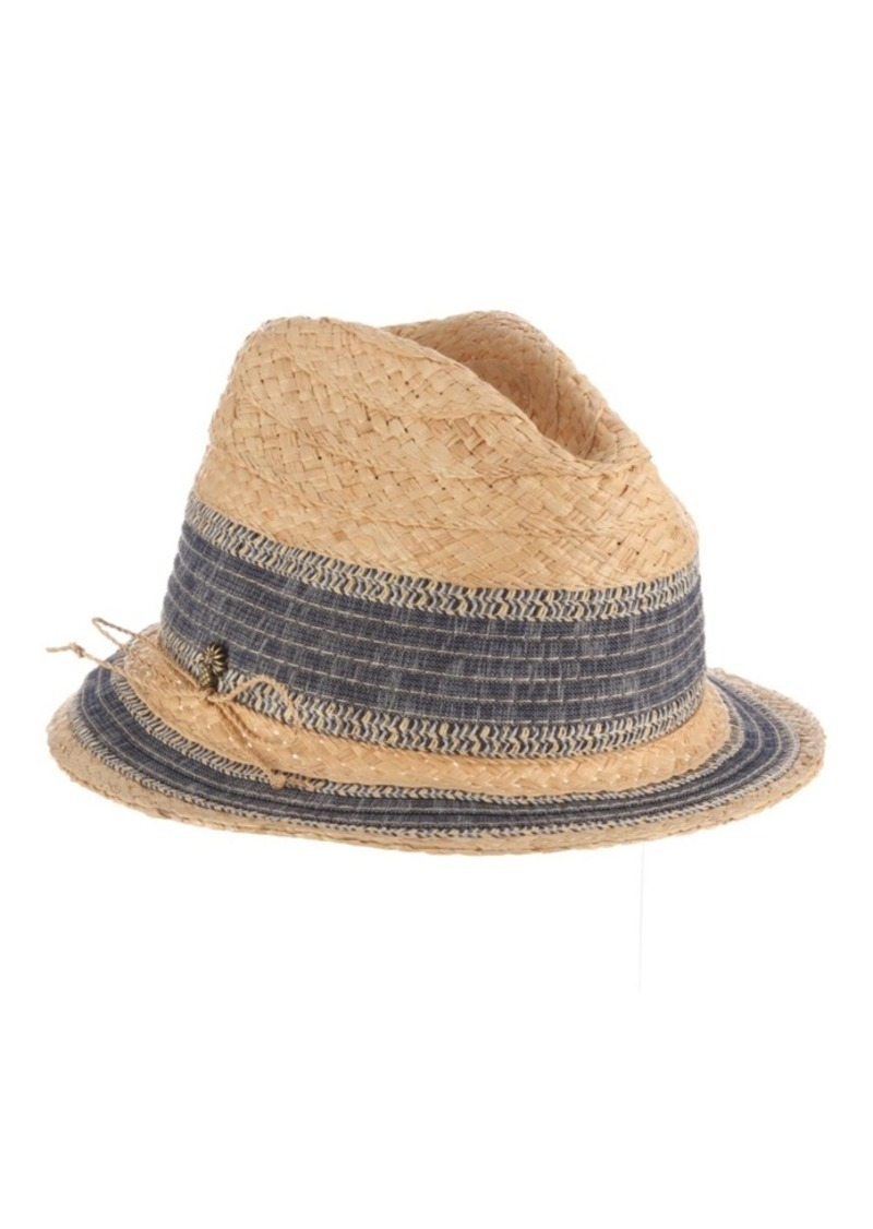 Tommy Bahama Raffia Braid and Ribbon Fedora