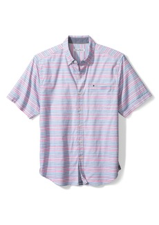Tommy Bahama Reef Point Short Sleeve Stripe Print Button-Up Shirt
