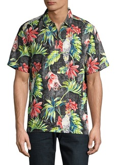 Tommy Bahama Regular-Fit Tahitian Tweets Camp Silk Button-Down Shirt