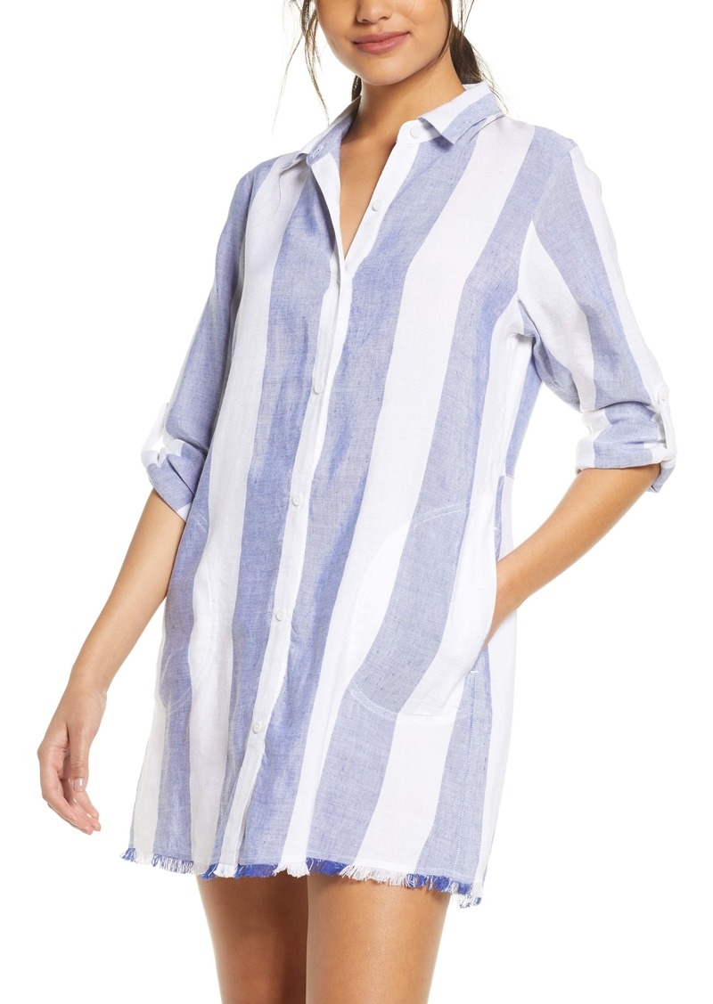 Tommy Bahama Rugby Beach Stripe Cover-Up Tunic Shirt