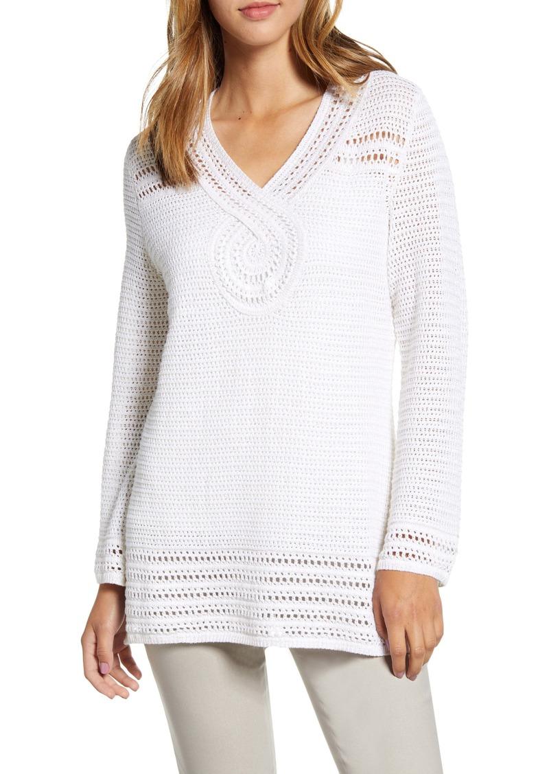Tommy Bahama Sand Dollar Shimmer Tunic Sweater