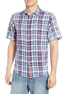 Tommy Bahama Sand Swept Plaid Classic Fit Sport Shirt