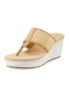 Tommy Bahama Sandra Raffia Wedge Thong Sandal