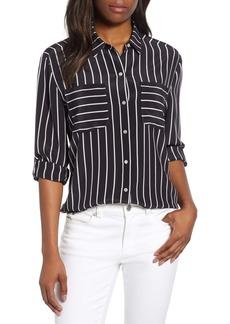 Tommy Bahama Savanna Stripe Cargo Pocket Silk Shirt