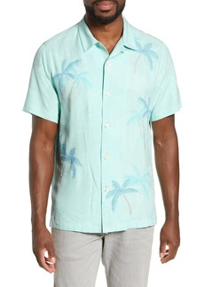 Tommy Bahama Scattered Palms Classic Fit Silk Shirt