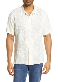 Tommy Bahama Scrolling Vines Classic Fit Silk Camp Shirt