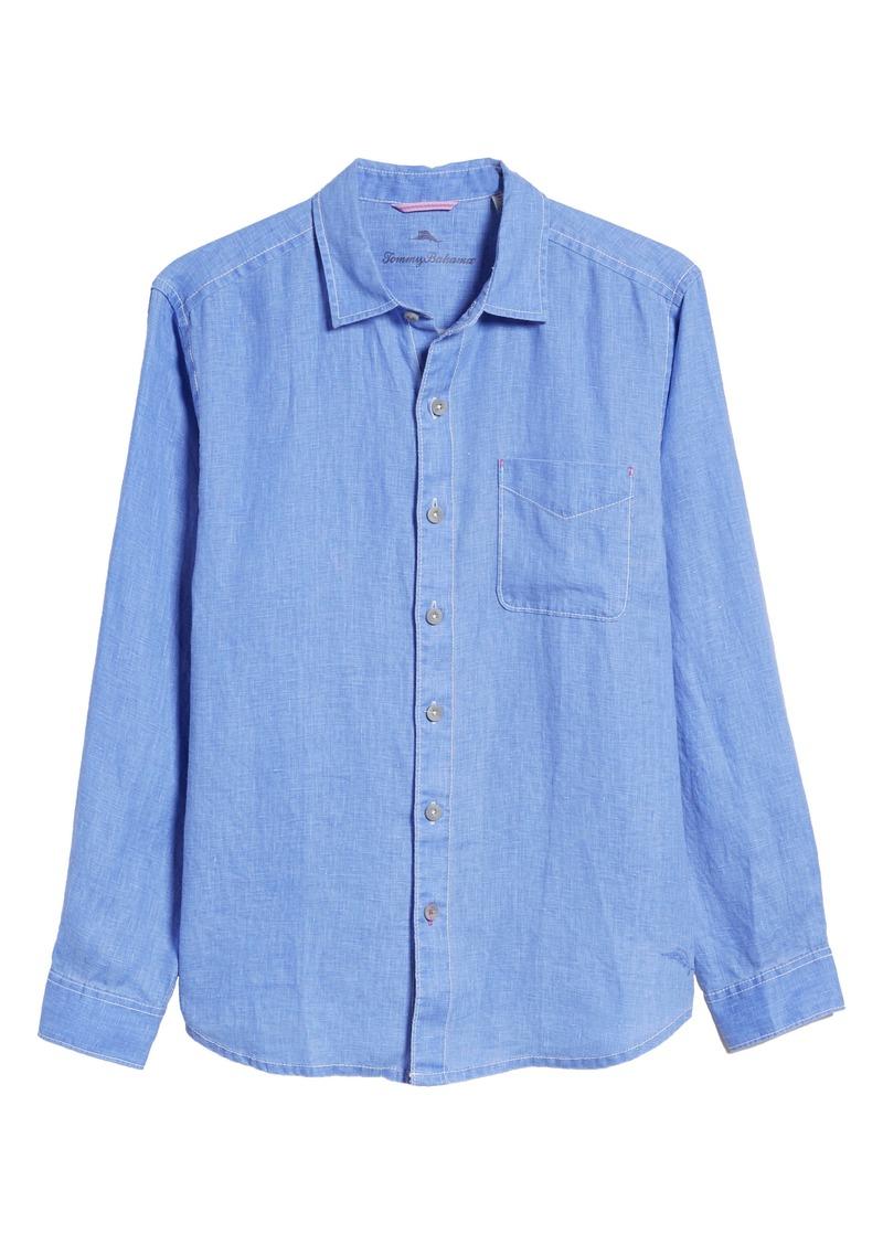 Tommy Bahama Sea Glass Breezer Original Fit Linen Shirt