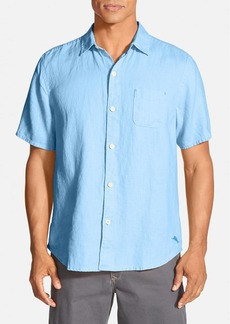 Tommy Bahama 'Sea Glass Breezer' Original Fit Short Sleeve Linen Shirt