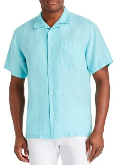 Tommy Bahama Sea Glass Camp Regular Fit Short-Sleeve Linen Shirt
