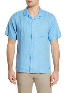 Tommy Bahama Sea Glass Short Sleeve Button-Up Linen Camp Shirt