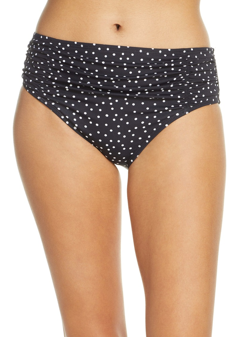 Tommy Bahama Sea Swell Shirred High Waist Swim Bottoms