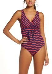 Tommy Bahama Sea Swell Stripe One-Piece Swimsuit