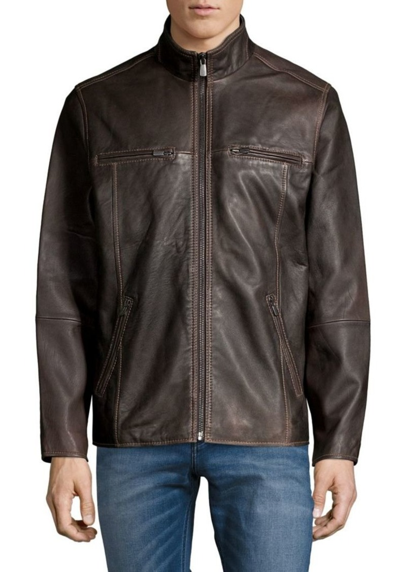 Tommy Bahama Seam Leather Jacket