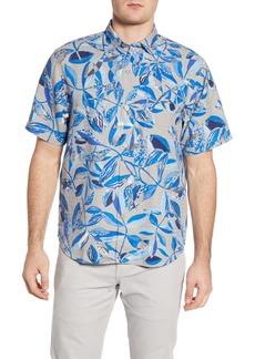 Tommy Bahama Seven Seas Short Sleeve Silk Button-Up Shirt