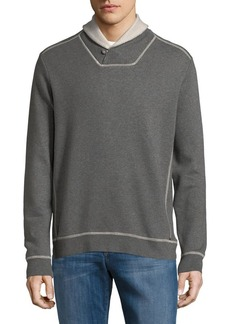 Tommy Bahama Shawl Collar Cotton Sweatshirt