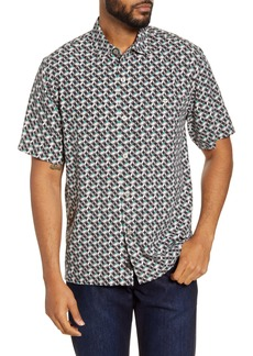 Tommy Bahama Short Sleeve Silk Button-Up Shirt
