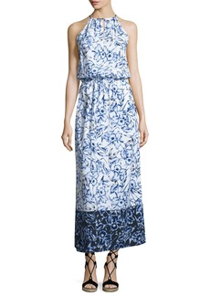 Tommy Bahama Sketchbook Blossoms Halter Maxi Dress
