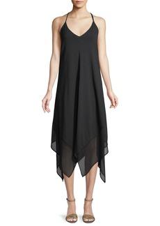 Tommy Bahama Sleeveless V-Neck Scarf Coverup Dress