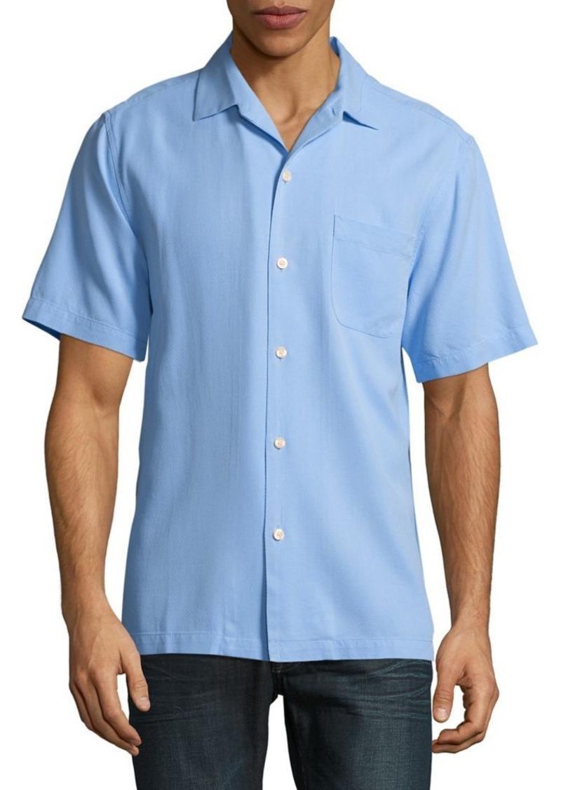 Tommy Bahama Solid Diamond Dobby Shirt