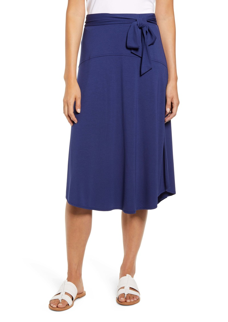 Tommy Bahama Solid Midi Skirt